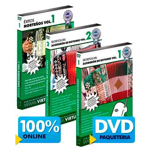 Curso de acordeón de botones disponible online y DVD