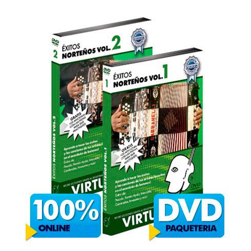 Curso de acordeón y éxitos norteños disponible online y DVD