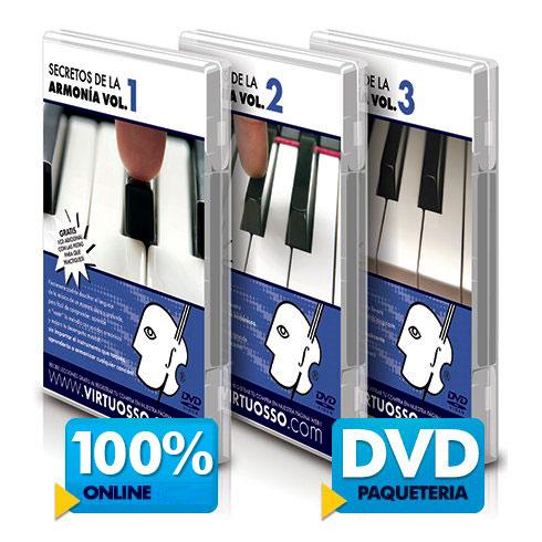Curso de armonía y teoría musical disponible online y DVD