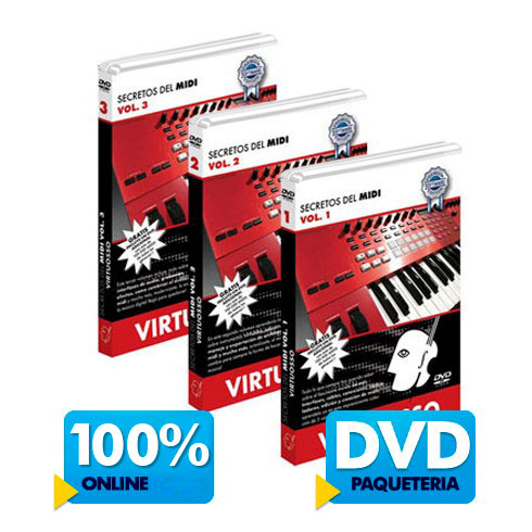 Curso de audio y midi disponible online y DVD.