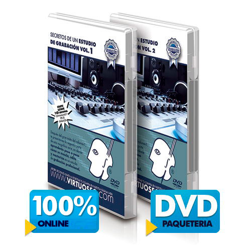 Curso de grabación de audio disponible online y DVD.