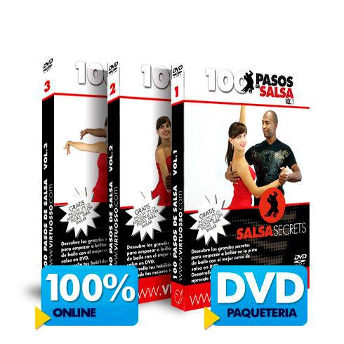 Curso 100 Pasos de Salsa disponible online y DVD