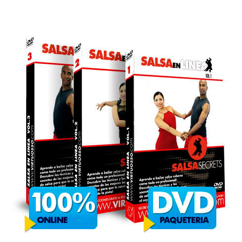 Curso de Salsa en Línea disponible online y DVD
