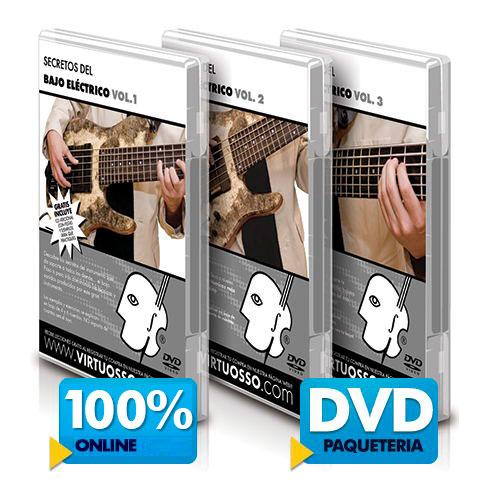 Curso de bajo eléctrico disponible online y DVD