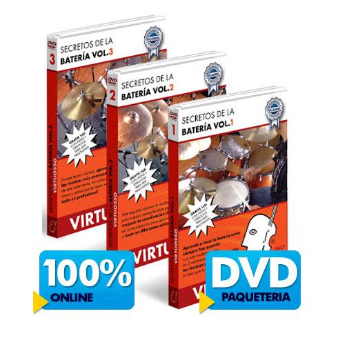 Curso de bateria disponible online y DVD.