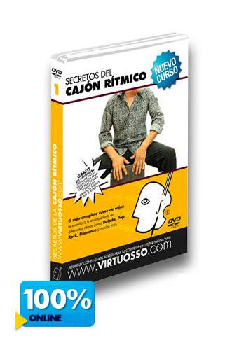 Curso de cajón rítmico disponible online y DVD.