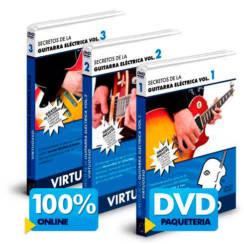 Curso de guitarra eléctrica disponible online y DVD