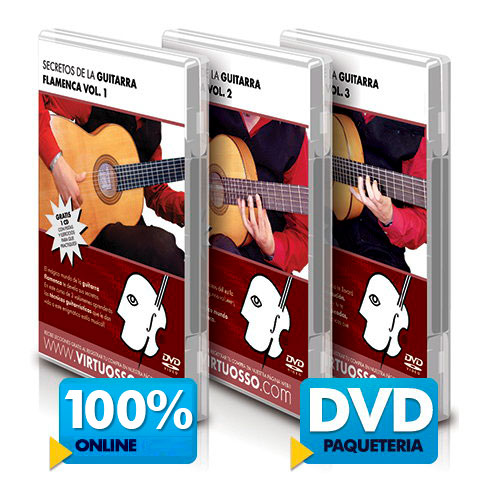 Curso de guitarra flamenca disponible online y DVD