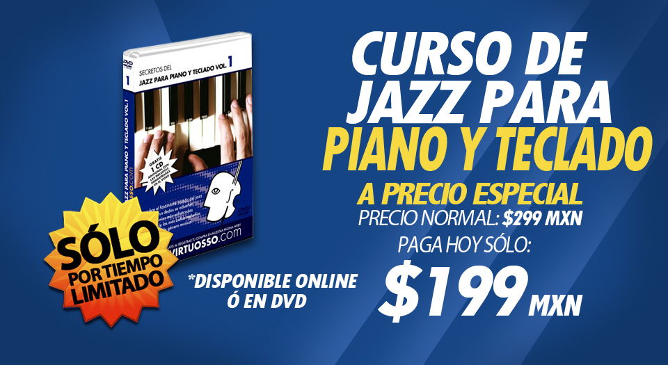Curso de piano jazz, salsa, blues
