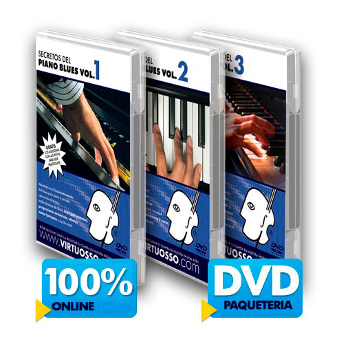 Curso de piano blues disponible online y DVD