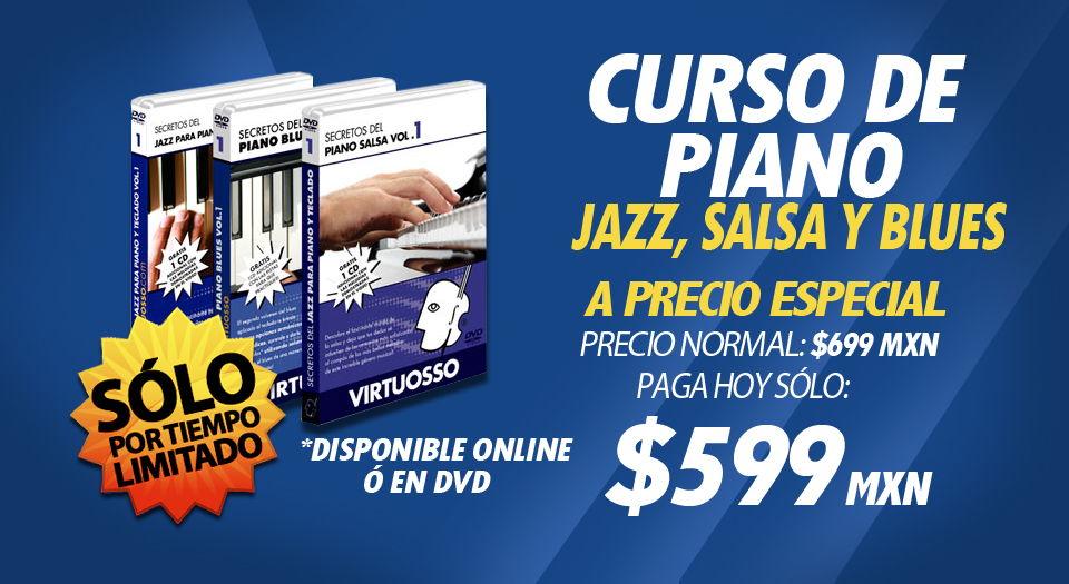 Curso de piano jazz, salsa, blues