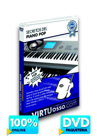 Curso de piano pop disponible online y DVD