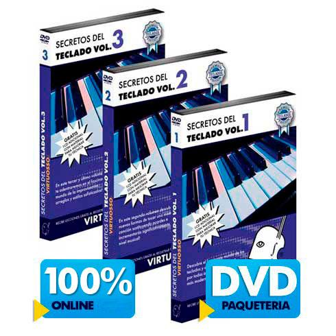 Curso de teclado disponible online y DVD