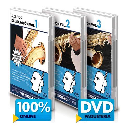 Curso de saxofón disponible online y DVD