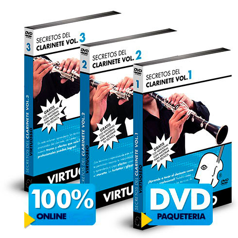 Curso de clarinete disponible online y DVD